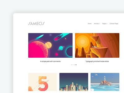 Samecis WP Theme wordpress theme clean design theme wordpress wp