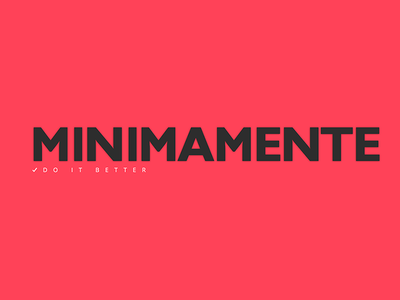 Minimamente Do It Better minimac design new logo web