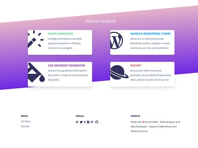 New redesign clean gradient web minimamente