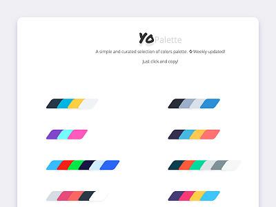 Yopalette Web Palette Inspiration colors color yopalette web palette inspiration