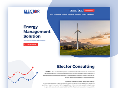 Elector website header modern wp wordpress charts graph site energy minimal clean finance web