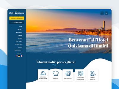 Hotel Quisisana website hotel booking side nav web deisgn web hotel design hotel