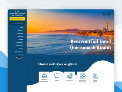 Hotel Quisisana website hotel booking side nav web deisgn web hotel design hotel