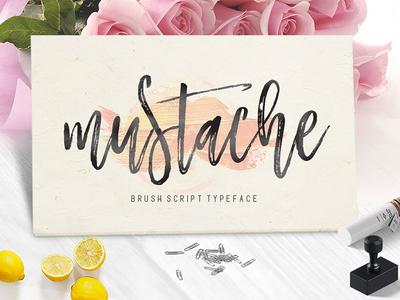 Mustache Brusht Script