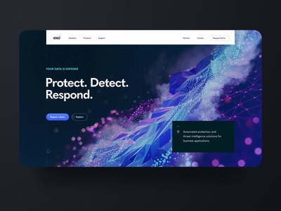 exo cybersecurity b2b website dark concept uidesign figma webdesign