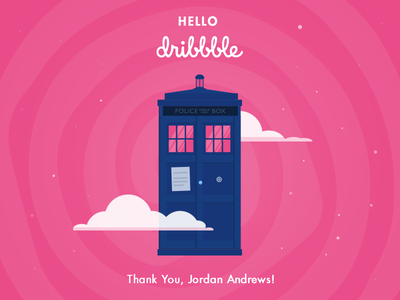 Hello Dribbble hello dribbble doctor who tardis shot first