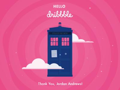 Hello Dribbble hello dribbble doctor who tardis shot first
