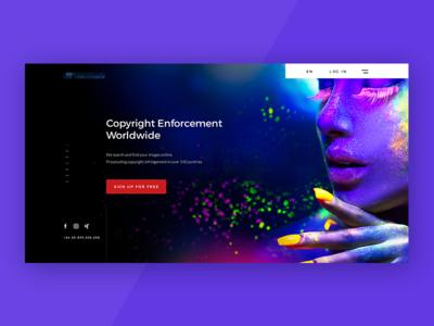 Home Page webdesign hero homepage