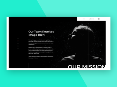 Our mission dark us about concept webdesign