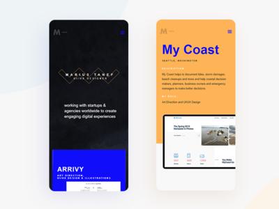 Personal Website webflow figma responsive design mobiledesign webdesign portfolio