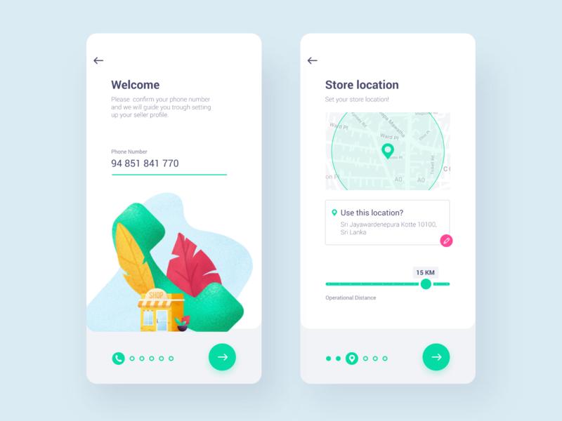Seller Account custom illustration illustration android app mobile uiux mobile app design mobile app