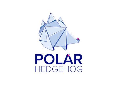 Polar Hedgehog art minimal website illustrator app typography design ui logo illustration
