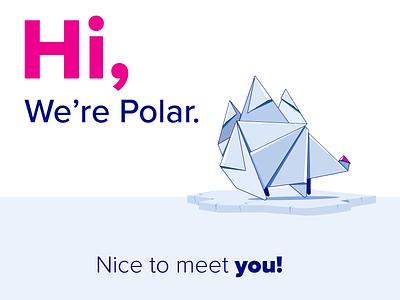 Hi, We're Polar website stickers app branding minimal ui art illustration illustrator design