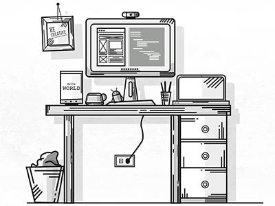 Workstation workstation workspace where magic happens