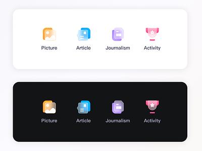 一组毛玻璃图标练习 logo ux branding app ui icon