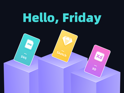 Hello, Friday ux vector illustration typography logo icon design branding app ui