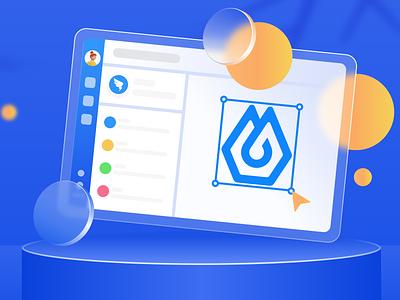 质感毛玻璃 ux vector illustration app ui typography logo icon