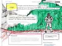 Homepage Wireframe Sketch, Large