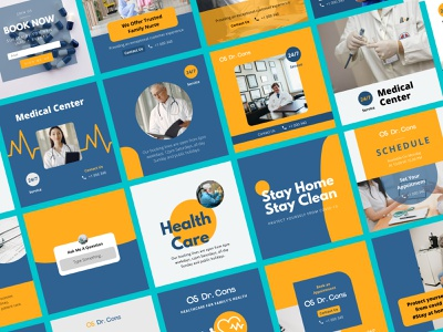 Medical Canva Instagram Template typography layout design medical template instagram template instagram post templatedesign design