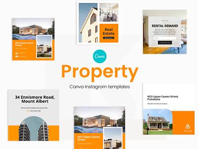 Property Canva Instagram Template branding typography templatedesign layout design instagram template instagram post design
