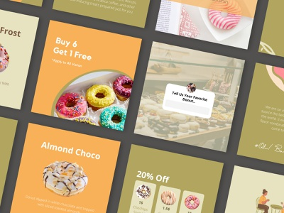 Foods Canva Instagram template food template branding canva template layout design instagram template instagram post design