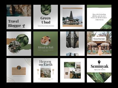 Travel Canva Instagram Templates promotional design editorial design typography branding canva template layout design instagram template design