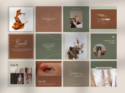 Business Canva Instagram Template editorial design layout grid layout design canva template instagram post design