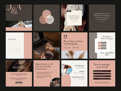 Engagement Canva Template editorial design layout typography grid instagram template layout design branding canva template instagram post design