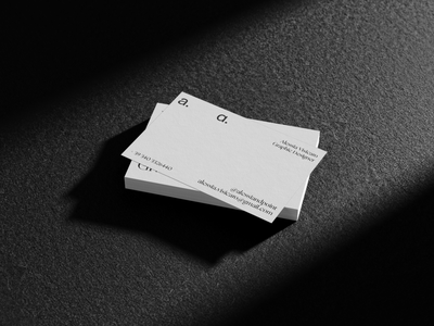 Business card application for alessia. personal branding visual identity logotype design branding business card design logotype typography brand identity business card