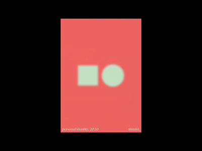 Minimal poster for personal branding alessia. adobe illustrator shapes geometry daily poster graphic design geometric design poster design poster a day minimal poster posters poster