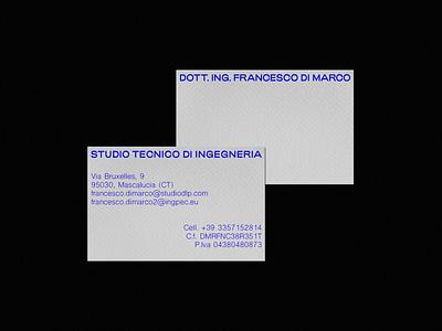Dott. Ing. Francesco Di Marco — Brand Identity illustrator photoshop corporatedesign corporate typography logotype printdesign print graphicdesign visualidentity businesscard brandidentity brandinginspiration brandingdesign branding