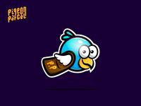 Pigeon Parcel Mascot Logo