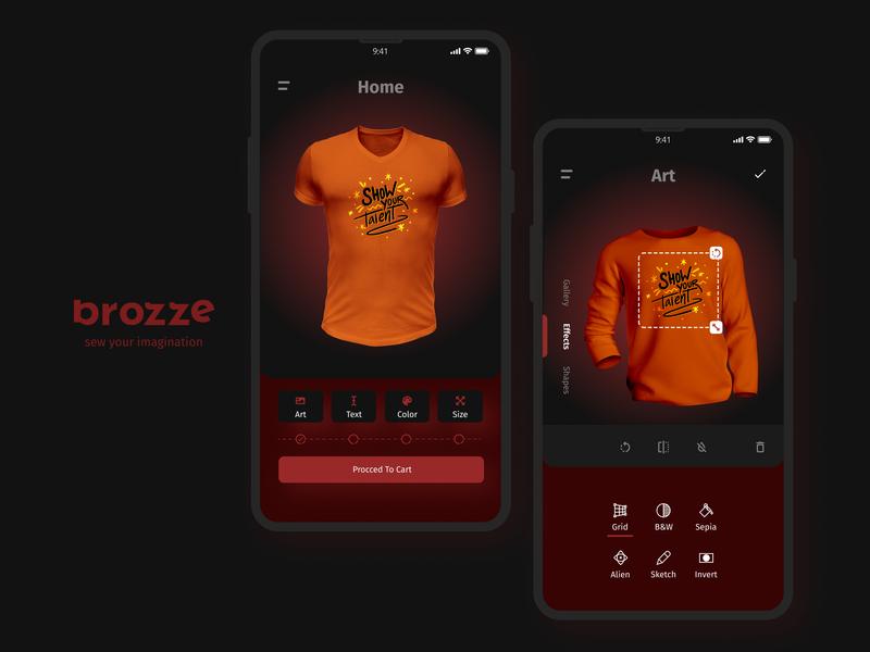 Brozze app UI logo ios mobile figma phone design android ux ui app