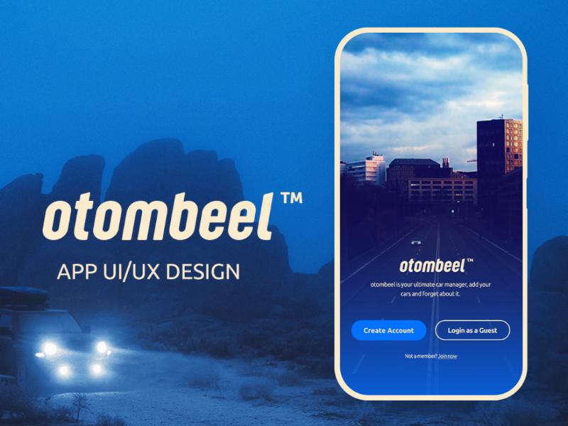 otombeel App Ui/Ux design design mobile illustrator premiere photoshop adobe figma ux ui app