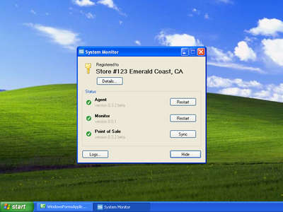 Designing for the past - system monitor app winforms status windows windows xp