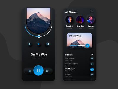 Music Player App ux design ui design uidesign ui music music player ui music player app music app music player uxdesign mobile ui ux mobile app mobile app design mobile design biztechcs biztech