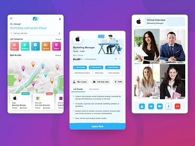 Job Finder Application uidesign uxdesign mobile app design adobexd ux mobile app ui job board jobs job application job biztechcs biztech
