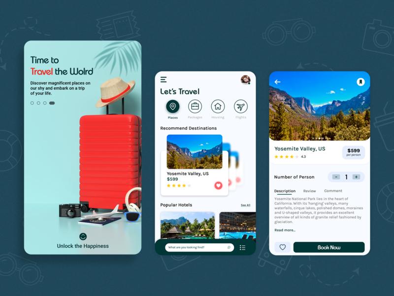 Holiday Booking Applicaiton booking app travel booking traveling holidays travel app design ux design uxdesign ux uidesign mobile ui mobile app design mobile app biztechcs biztech