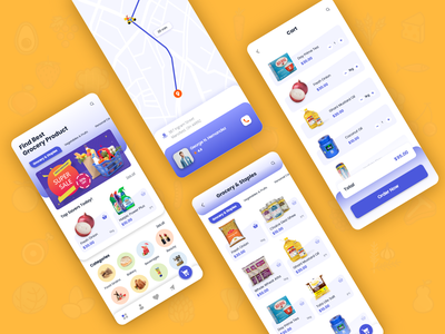 Grocery Booking Application ux mobile ui grocery groceries bookings booking app uidesign uxdesign mobile app design mobile app biztechcs biztech