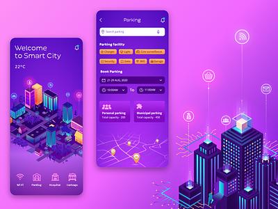 Smart City - IOT ui ux uxdesign uidesign mobile app design mobile app biztechcs biztech smarthome smartcity iot app iot