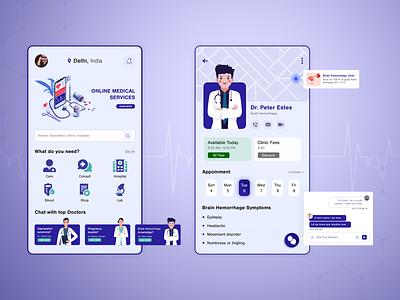 Online Medical Services uidesign uxdesign mobile app design ui ux mobile app doctor appointment doctor app medical services medical app biztechcs biztech