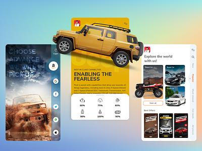 Self Drive Car Rental Service App ui ux uidesign uxdesign mobile app design mobile app self drive car app car rent car rental app rent a car biztechcs biztech