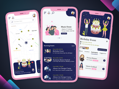 Event Booking Application event booking events event app ux design uidesign uxdesign mobile app design ux mobile app biztechcs biztech