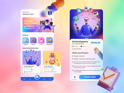 Online Education Mobile Application educational learning app online education education app mobile design mobile app design ux uidesign mobile app biztechcs biztech
