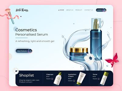 Beauty Product - Website Landing Page uidesign uxdesign graphic design biztechcs biztech