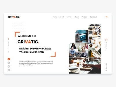 CRIVATIC - Digital Agency Landing Page.