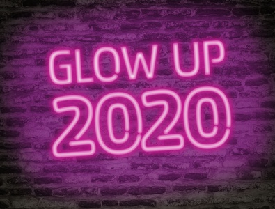 Neon Glow Party Text