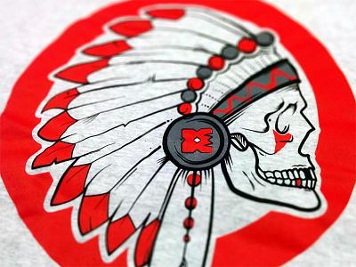 Native illustration clothing skateshop native skull