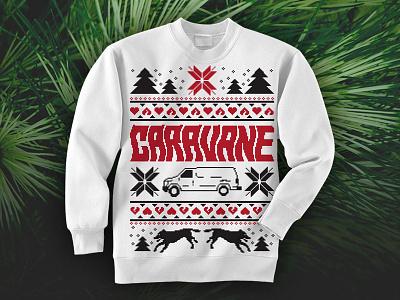 Caravane Xmas Sweater xmas sweater christmas band music merch pullover sweatshirt pixel art