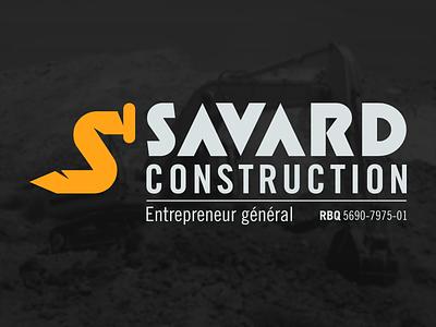 Savard Construction logo construction nail yellow orange gold contractor